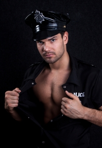 Young sexy policeman